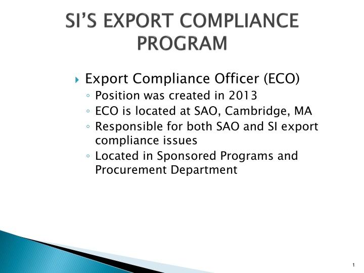 si s export compliance program n.