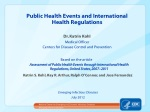 Public Health Events and International Health Regulations