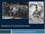 Problems of industrialization