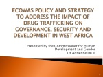 Presented by the Commissioner for Human Development and Gender Dr  Adrienne DIOP
