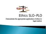 Ethics SLO-PLO