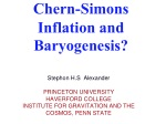 Chern -Simons Inflation and  Baryogenesis ?