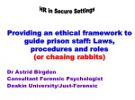 Dr Astrid Birgden Consultant Forensic Psychologist Deakin University/Just-Forensic