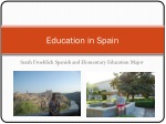 Education in Spain