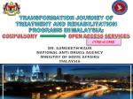 TRANSFORMATION JOURNEY OF TREATMENT AND REHABILITATION PROGRAMS IN MALAYSIA: COMPULSORY OPEN AC