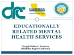 EDUCATIONALLY RELATED MENTAL HEALTH SERVICES