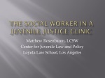 The Social Worker in a Juvenile Justice Clinic