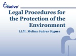 Legal Procedures for the Protection of the Environment