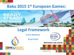 Baku 2015 1 st European Games :