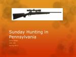 Sunday Hunting in Pennsylvania