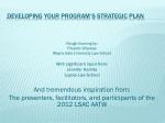 Developing Your Program's Strategic Plan