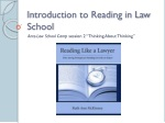Introduction to Reading in Law School