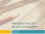 Preparing for Law School Application
