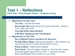 Test 1 – Reflections Find Test – Find Answer Sheet – Compare to Key