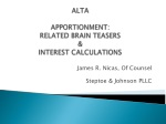 ALTA APPORTIONMENT: RELATED BRAIN TEASERS & INTEREST CALCULATIONS