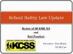 School Safety Law Update
