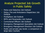 Analyze Projected Job Growth in Public Safety