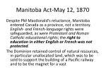Manitoba Act-May 12, 1870