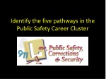 Identify the five pathways in the Public Safety Career Cluster