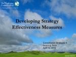 Developing Strategy  Effectiveness Measures