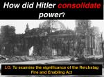 How did Hitler consolidate power ?