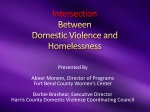 Intersection Between Domestic Violence and Homelessness