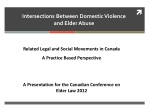 Intersections Between Domestic  Violence  and  Elder  Abuse