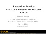 Research to Practice: Efforts by the Institute of Education Sciences