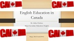 English Education in Canada