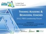 Training Academic & Behavioral Coaches