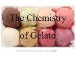The Chemistry of Gelato