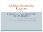 Antibiotic Stewardship Programs