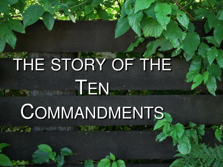 the story of the ten commandments n.