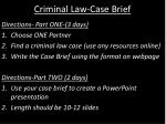 Criminal Law-Case Brief