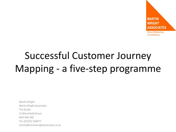 successful customer journey mapping a five step programme n.