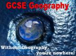 Without Geography,                       you're nowhere!