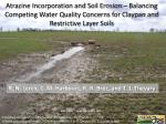 Atrazine Incorporation and Soil Erosion – Balancing Competing Water Quality Concerns for Claypan and Restrictive Layer S