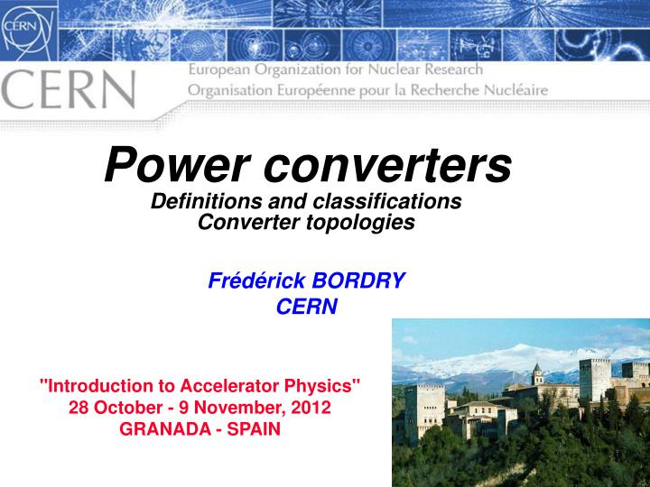PPT - Power converters Definitions and classifications
