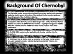 Background Of Chernobyl