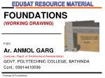 FOUNDATIONS (WORKING DRAWING)