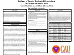 Analysis of Gender Dominated Occupations:  The  Effects  of  Gender  Roles Yusimit  Barrios, M.S. and Toni  DiDona , Ph.