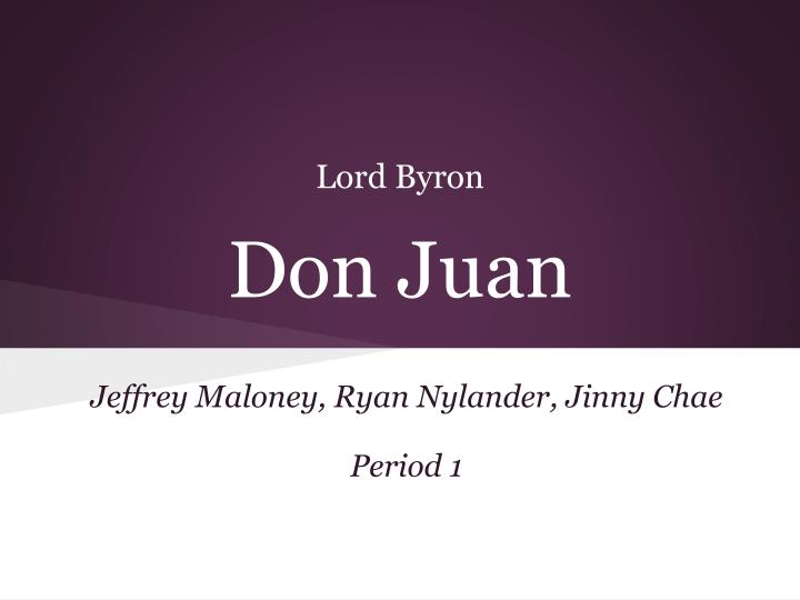 lord byron don juan n.
