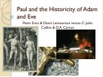 Paul and the Historicity of Adam and Eve