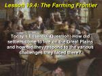 Lesson 19.4: The Farming Frontier