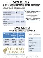 SAVE MONEY SHOULD YOUR MORTGAGE COVER COST LESS?