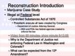 Reconstruction Introduction