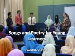 Songs and Poetry for Young Learners