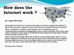 How does the Internet work ?