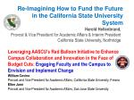 Re-Imagining How to Fund the Future in the California State University System