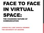 Face to Face in Virtual Space: The Changing Nature of Communication